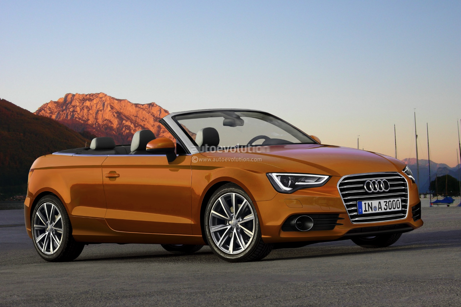 2012 audi a3 cabriolet rendering autoevolution. Black Bedroom Furniture Sets. Home Design Ideas