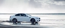 2012 BMW M5 Drifting on the Beach in Wales [Video]