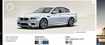 2012 BMW M5 Online Configurator Now Available