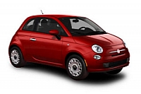 New FIAT 500 in brilliant red