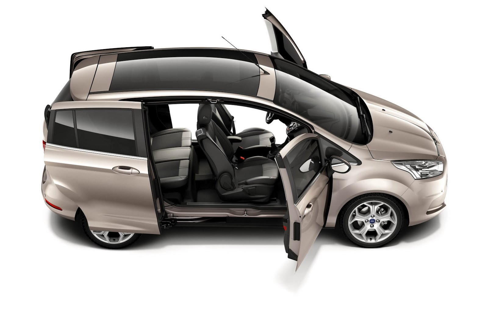 2012 ford b max easy access door system revealed autoevolution. Black Bedroom Furniture Sets. Home Design Ideas