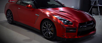 2012 Nissan GT-R Gets Awesome Red Chrome [Video]