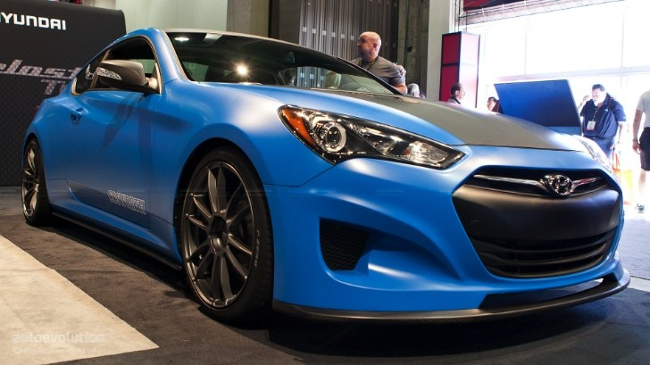 2012 SEMA: The Cosworth Hyundai Genesis Coupe Racing [Live Photos]