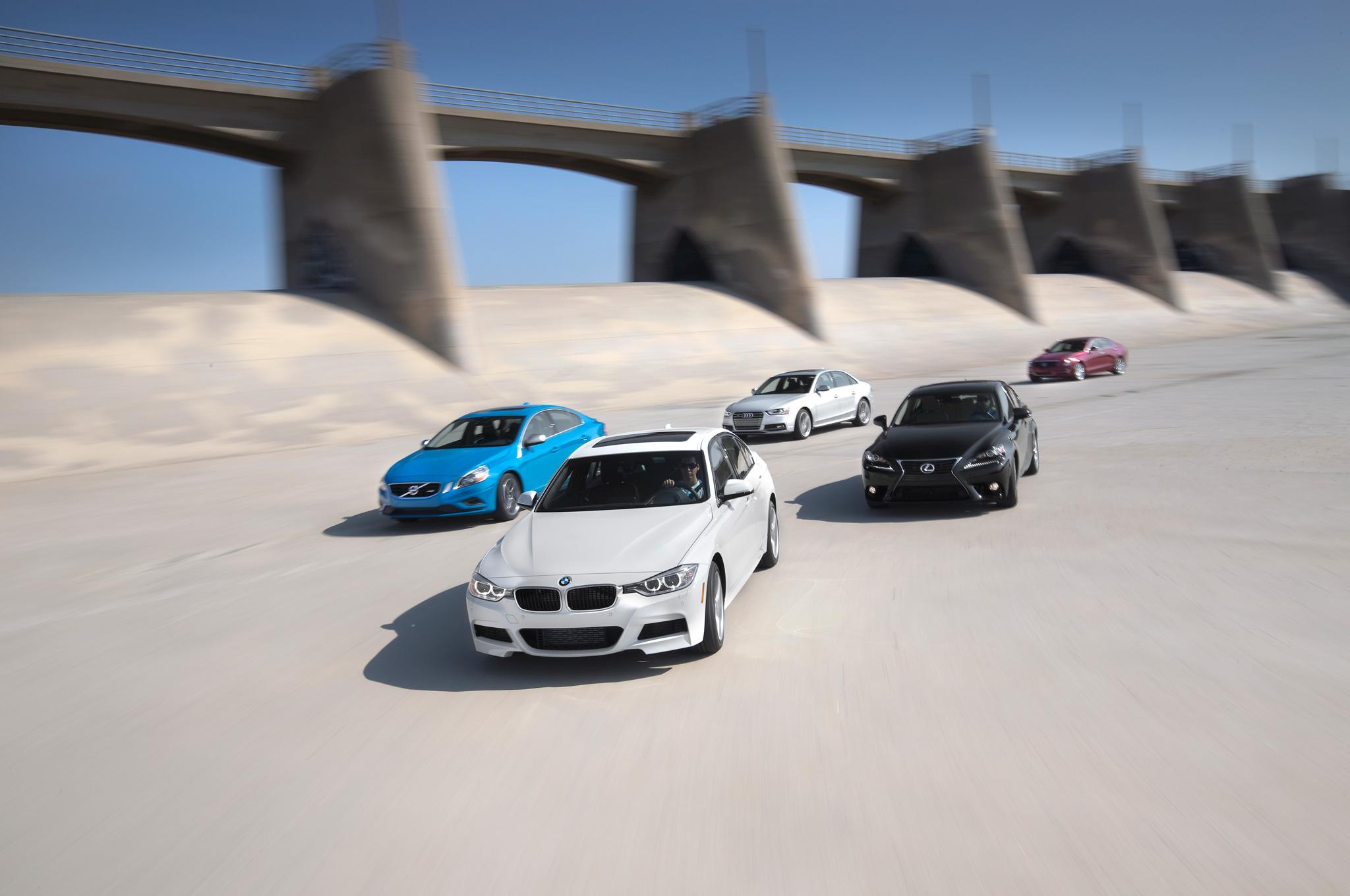 Luxury Sport Sedans Comparison By Motor Trend BMW Wins - Sports car comparison