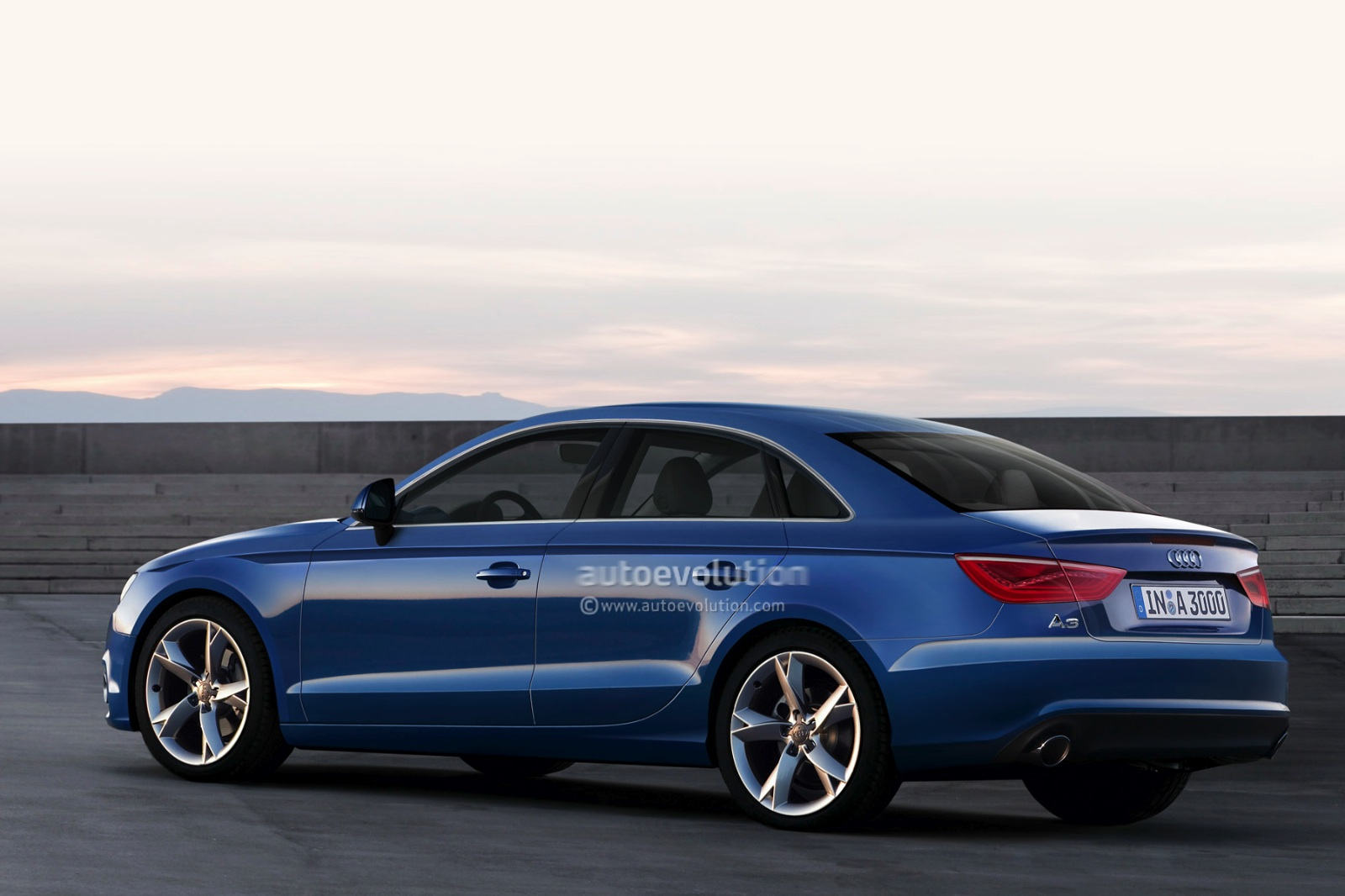 2013 audi a3 sedan rendered autoevolution. Black Bedroom Furniture Sets. Home Design Ideas