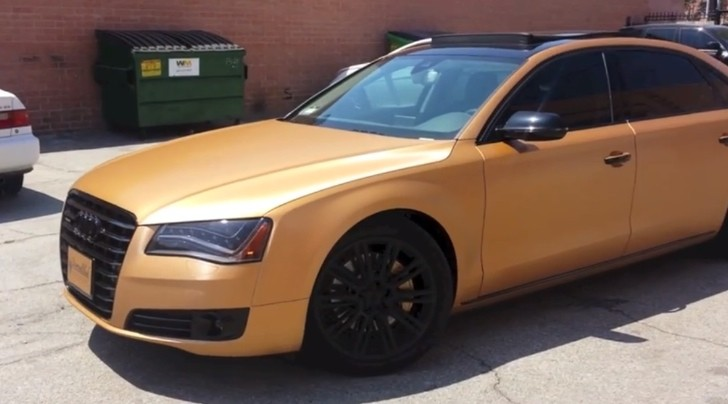 2013 Audi A8 L Wrapped in Brushed Bronze [Video]