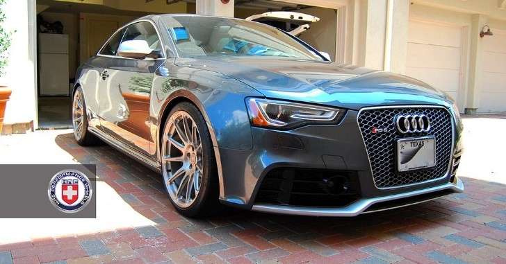 2013 Audi RS5 on HRE Wheels Takes a Shower