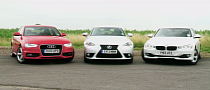 2013 BMW 320d vs 2014 Lexus IS300h Comparison Test [Video]