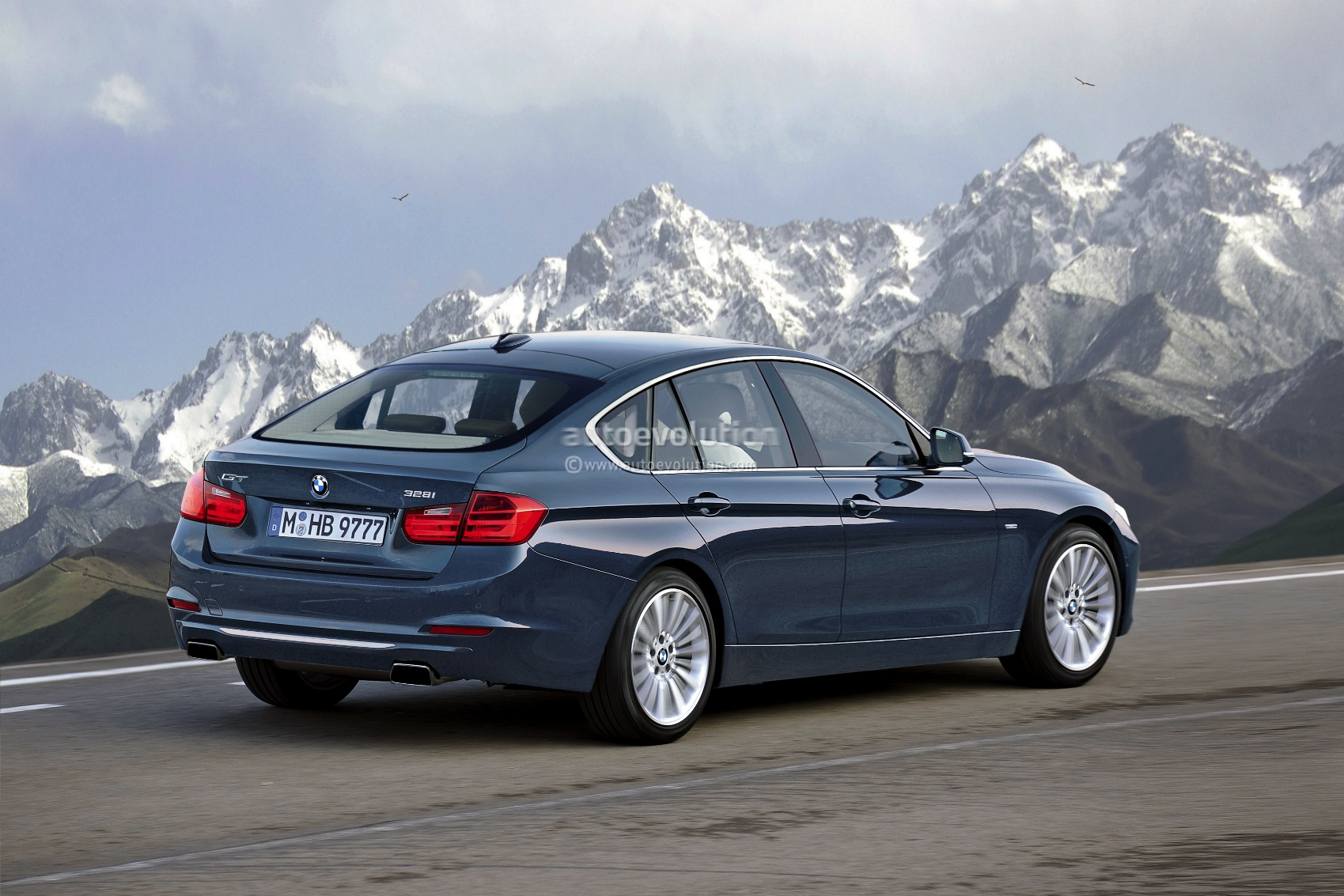 2013 bmw f34 3 series gran turismo rendering autoevolution. Black Bedroom Furniture Sets. Home Design Ideas