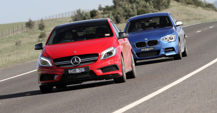 2013 BMW M135i vs Mercedes-Benz A45 AMG Comparison Test by Car Advice