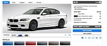 2013 BMW M5 Online Configurator Launched: Build Your Own!