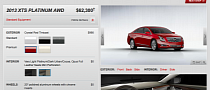 2013 Cadillac XTS Configurator: Build Your Own