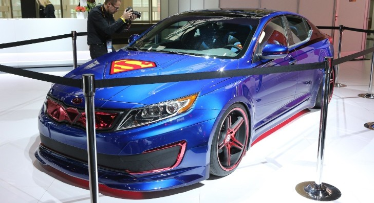 2013 Chicago: Superman Kia Optima [Live Photos]