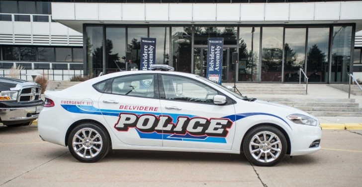 2013 Dodge Dart Plays Police Car Role in Belvidere