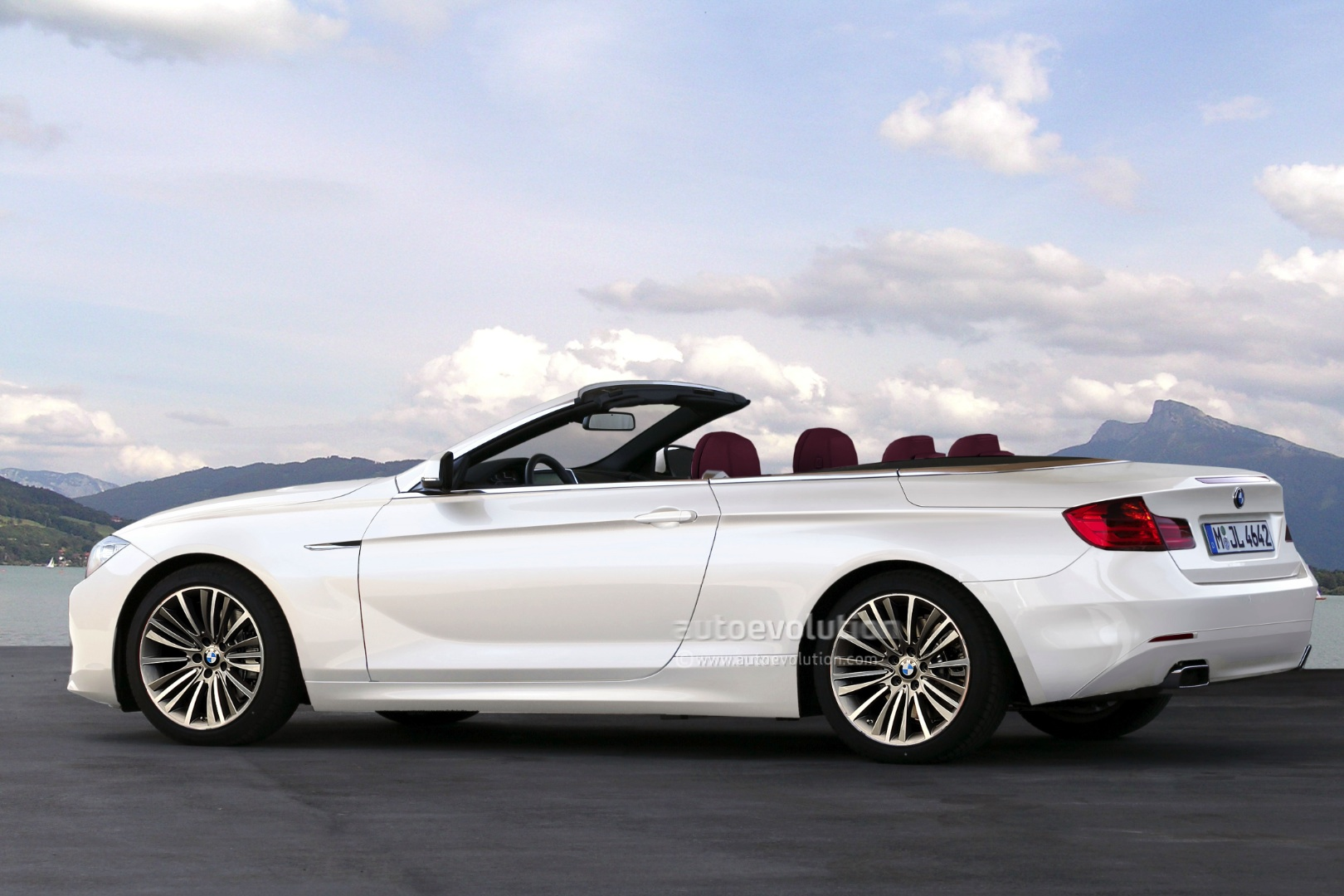 F BMW Series Convertible Rendering Autoevolution - 2013 bmw 4 series convertible