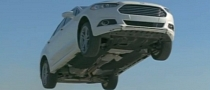 2013 Ford Fusion Jumps off a Cliff in TV Commercial [Video]