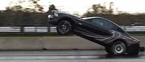 2013 Ford Mustang Cobra Jet Shows Wheelie, then Crashes [Video]