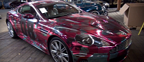 2013 Gumball 3000: Aston Martin DBS Gets Chrome Pink Camo [Video]
