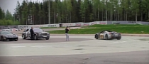 2013 Gumball 3000: Ferrari 458 Spider Drifts around F12 Berlinetta and Rolls Royce [Video]