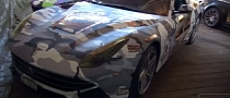 2013 Gumball 3000: Ferrari F12 Berlinetta with Snow Camo [Video]