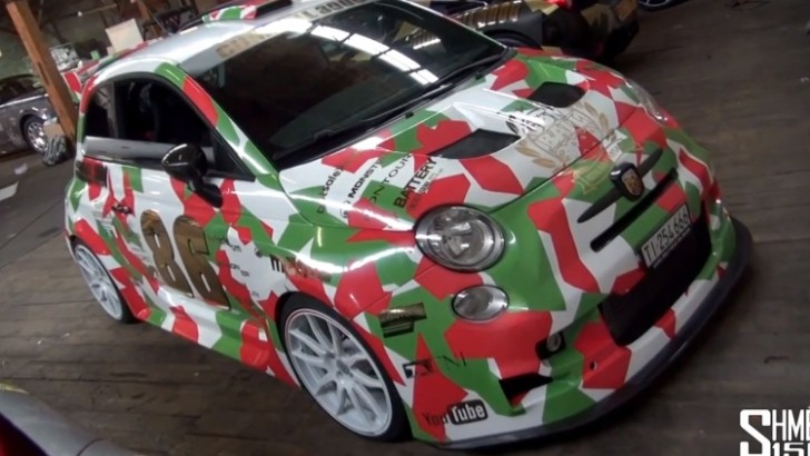 2013 Gumball 3000: Fiat 500 Abarth Street Racer with Crazy Wrap [Video]