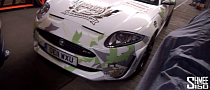 2013 Gumball 3000: Jaguar XKR-S White and Green Camo [Video]