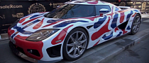 2013 Gumball 3000: Koenigsegg Gets Norway Flag Wrap [Video]