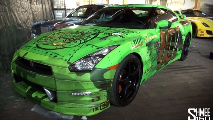 2013 Gumball 3000: Nissan GT-R Gets Fighter Jet Wrap [Video]