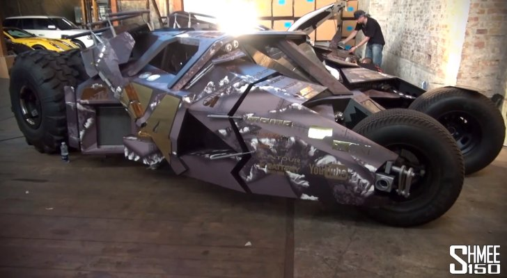 2013 Gumball 3000: Tumbler Batmobile Gets Wrapped [Video]