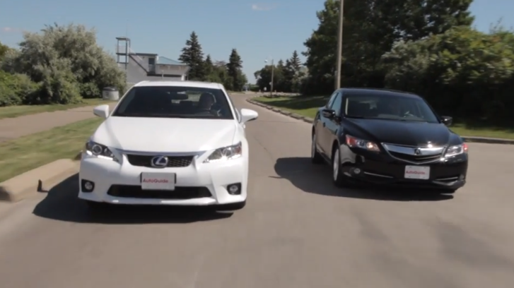 2013 Lexus CT 200h Versus Acura ILX Hybrid [Video]