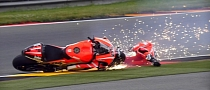 2013 MotoGP: Crashfest at Sachsenring During Free Practice