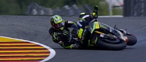 2013 MotoGP: Crutchlow Crashes at 200 KM/H, Medics Remove Gravel from His Arm