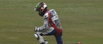 2013 MotoGP: Jorge Lorenzo Crashes at 238 KM/H, Breaks Collar Bone, Misses Assen [Video]