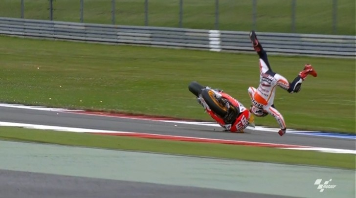 2013 MotoGP: Marc Marquez Crashes Violently in FP3