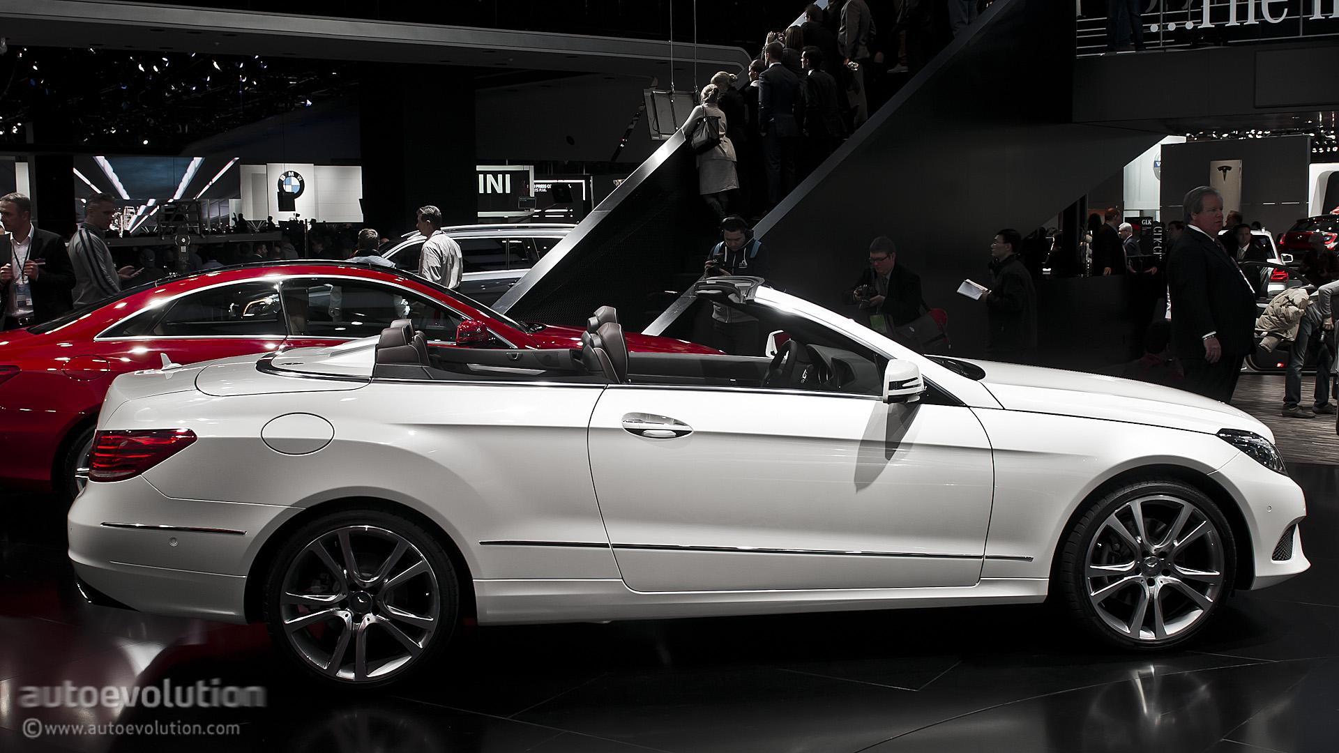 2013 naias mercedes benz e class cabriolet live photos for Mercedes benz e class cabriolet