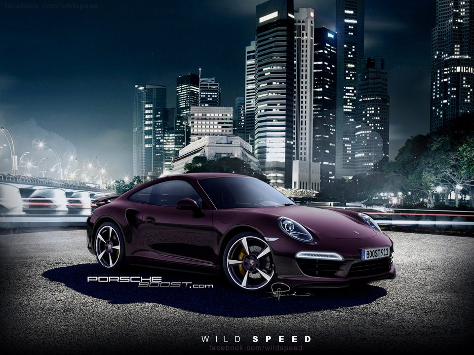 2013 porsche 911 turbo rendering hits the web autoevolution. Black Bedroom Furniture Sets. Home Design Ideas