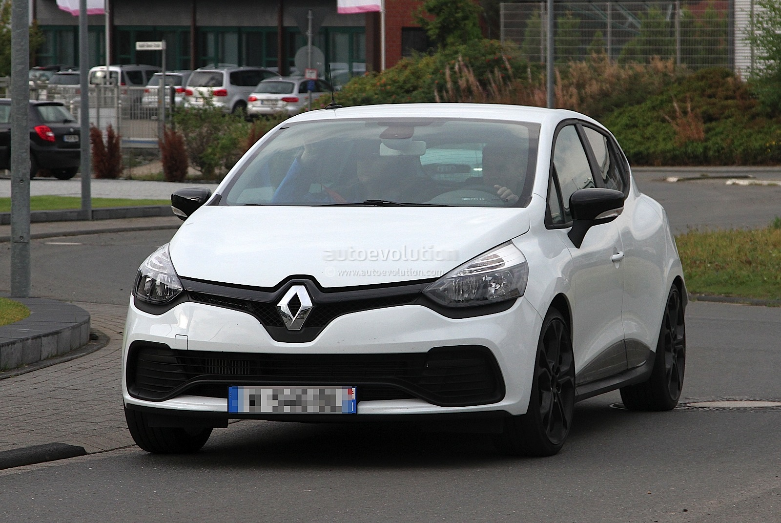 2013 Renault Clio Iv Rs 210 Spotted Undisguised In White