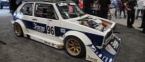 2013 SEMA: Volkswagen Golf 1 Gets Crazy Pikes Peak Body Kit [Live Photos]