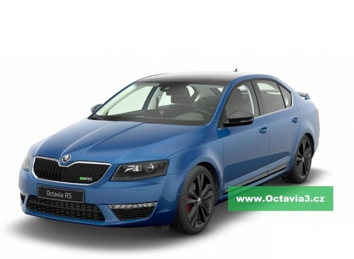 2013 Skoda Octavia RS Leaked in Blue