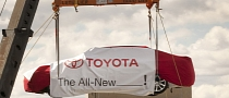 2013 Toyota Avalon Hoisted into New York