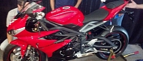 2013 Triumph Daytona 675 Spy Shots Show Minor Modifications
