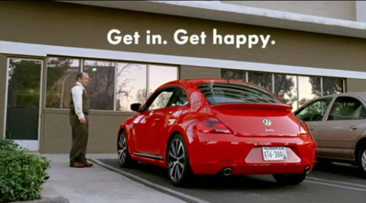 2013 Volkswagen Beetle Super Bowl Commercial: Get In. Get Happy [Video]