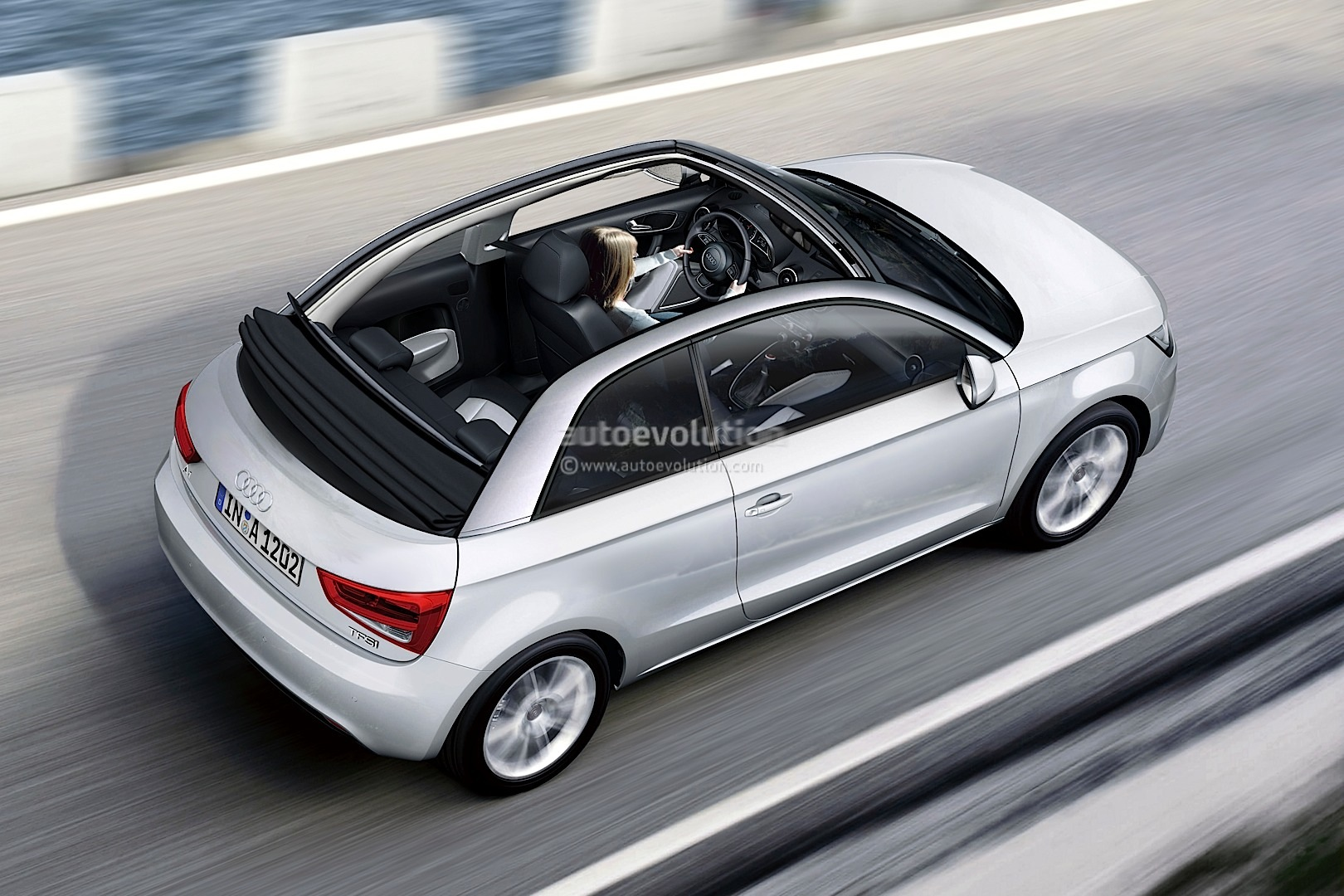 2014 audi a1 cabriolet rendering autoevolution. Black Bedroom Furniture Sets. Home Design Ideas