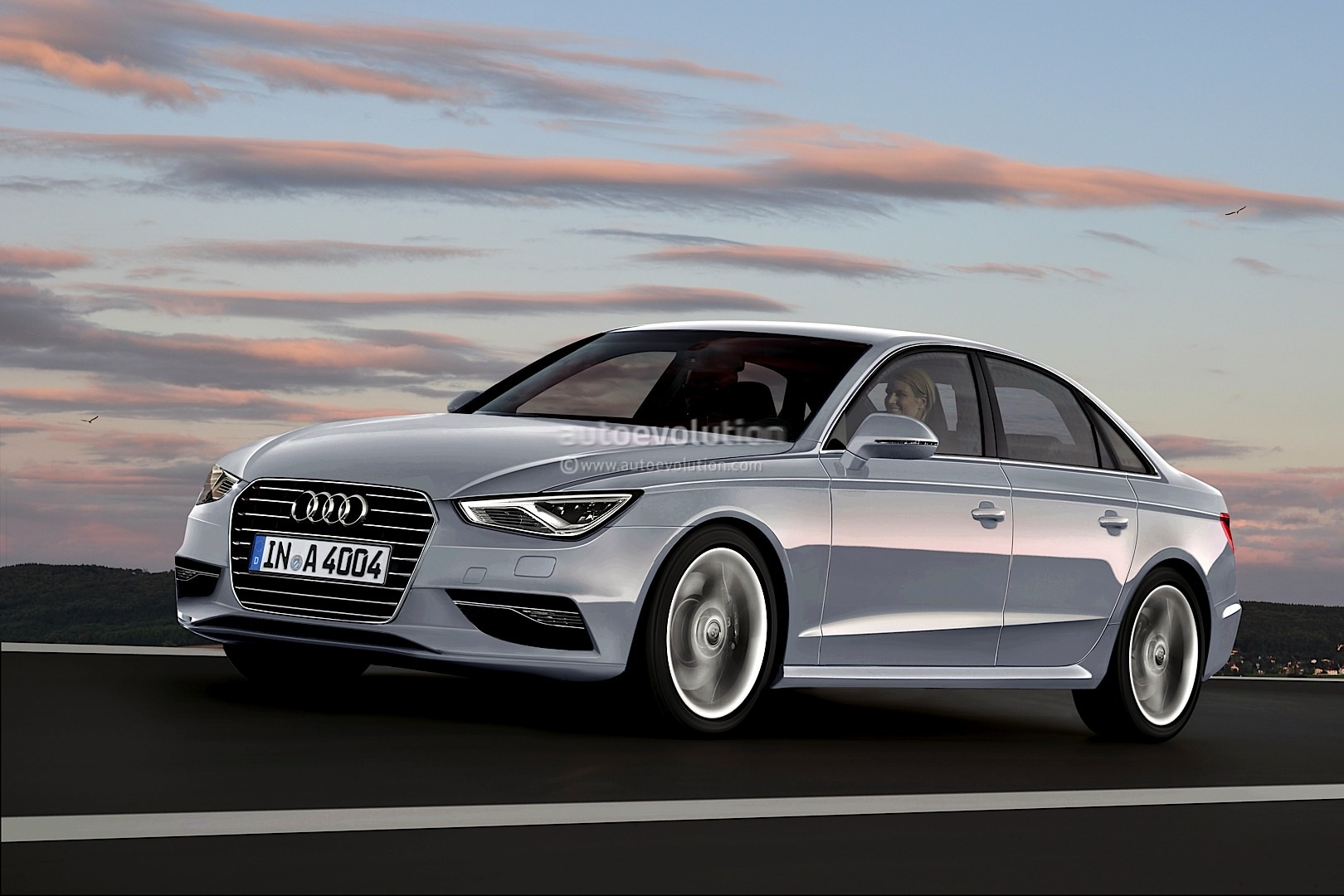 2014 audi a4 b9 rendering released autoevolution. Black Bedroom Furniture Sets. Home Design Ideas