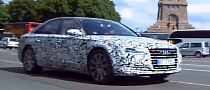 2015 Audi A8 Facelift Spied on the Road [Video]