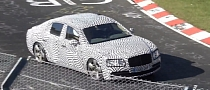 2014 Bentley Continental Flying Spur (Facelift) Testing at Nurburgring [Video]