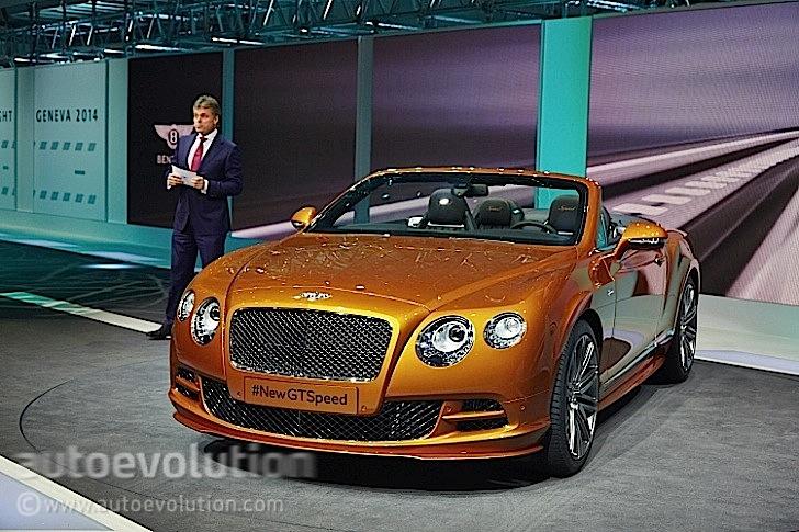 2014 Bentley Continental Gt Speed Debuts In Geneva Live Photos