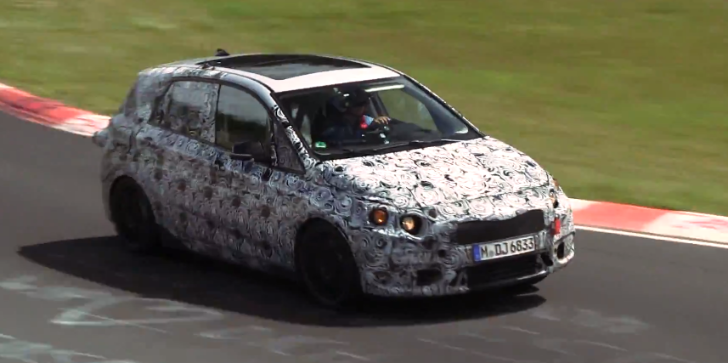 2014 BMW 1 Series GT Filmed Testing on the Nurburgring [Video]