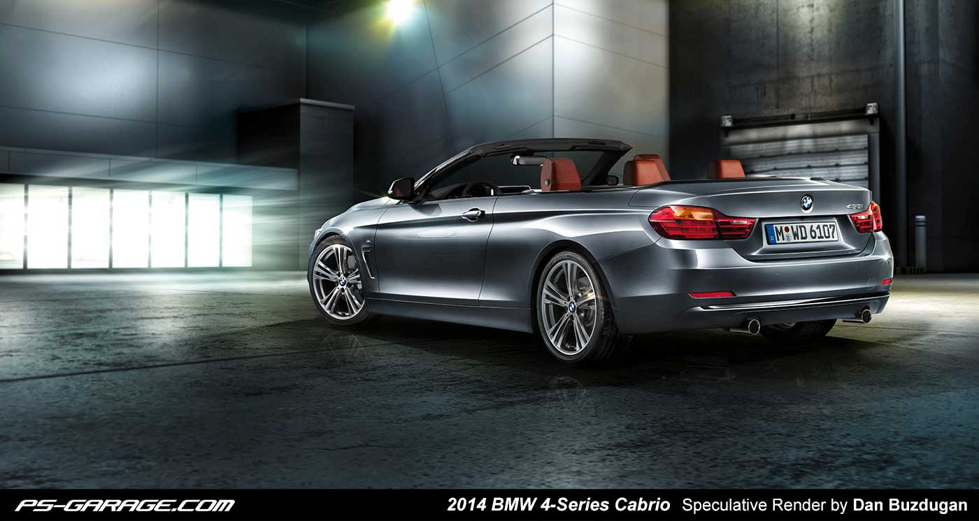 2014 bmw 4 series cabrio rendered again autoevolution. Black Bedroom Furniture Sets. Home Design Ideas