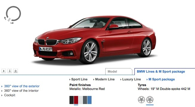 2014 BMW 4 Series Coupe Configurator Launched